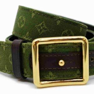 🍀 Louis Vuitton 75/30 Mini Lin Monogram Belt.